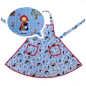 Retro 60s style Little Red Riding Hood apron
